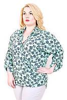 Летняя блуза на запах большого размера