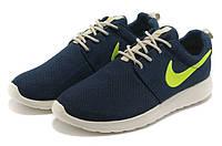 Кроссовки женские Nike Roshe Run blue-green