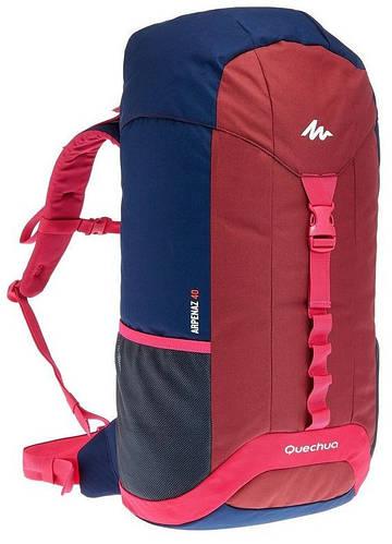 Туристический, городской практичный рюкзак  40 л. Quechua ARPENAZ 649873 бордо с синим