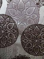 """Штора """"Изящные круги"""" серый ш. 145 см"""
