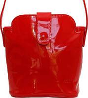 Яркая женская сумочка из натуральной лаковой кожи VATTO Wk49 L3, красный