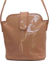 Симпатичная женская сумочка из натуральной лаковой кожи цвета пудры VATTO Wk49 L4