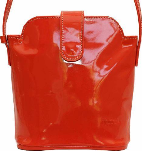 Шикарная женская сумочка из натуральной лаковой кожи цвета корал VATTO Wk49 L6
