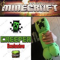 """Большой плюшевый Крипер из Minecraft - """"Big Creeper"""" - 38 см."""