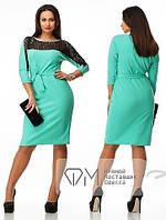 Платье ткань-креп-масло+гипюр ,РАЗМЕР 52-54