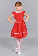 Красивое детское платье красного цвета