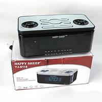 Настольные часы YJ-8118 с радиоприемником AM/FM и будильником (питание от сети) (75 027)