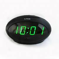 Настольные часы VST-711-4 с зеленой подсветкой (питание от сети) (75 028)