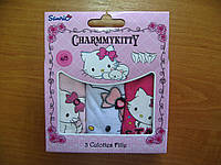 Набор 3шт детских трусиков Китти,  Charmmykitty ТM Sun city Франция 2-8лет