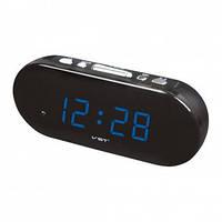 Настольные часы VST-715-5 с синей подсветкой (питание от сети) (75 029)