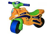 Детский двухколесный мотоцикл, толокар байк полиция 0139