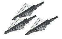Наконечники для стрел охотничьи, для арбалетов, металл, трехгранное лезвие, 3шт. в комплекте