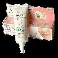ISME Acne Spot Cream Крем от акне и прыщей с Алое-Вера, Маслом Чайного дерева и Витамином В6 RBA /