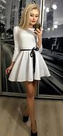 Коктейльное платье солнце, белое