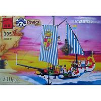Конструктор Пиратский корабль 310 деталей BRICK 305/298781
