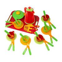 Набор игровой посуды с подносом Kinder Way 04-425