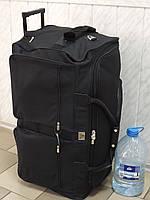 Очень большая дорожная сумка на колесах Т-938 черная