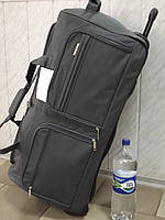 Очень большая дорожная сумка на колесах LYS 8430 Франция серая 110 литров
