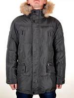 Куртка с мехом удлинённая больших размеров Номер модели 11109
