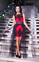 Платье-трансформер со сьемной фатиновой юбкой