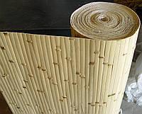 Бамбуковые обои березка желтые, ширина 90 см.