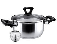 Внимание СенсаЦены! Кастрюля Ø20 см – 3,0 л + кухонный таймер в подарок (посуда Vinzer)