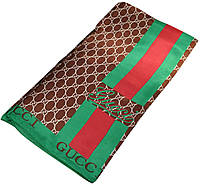 Женский платок Gucci 25256 коричневый