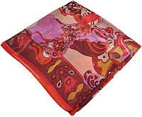 Женский платок Hermes 25419 сказка малиновый