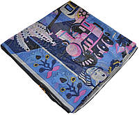 Женский платок Hermes 25409 сказка синий