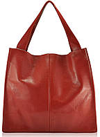 Женская кожаная сумка Mesho красная