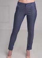 Женские зауженные брюки в горошек
