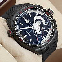 Мужские часы TAG Heuer - Carrera Caliber 36 цвет корпуса черный, каучуковый ремешок