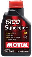 MOTUL 6100 Synergie+   10W-40  1л моторное масло полусинтетика