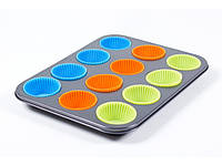 Форма для выпечки маффинов Muffin Pan 12pcs