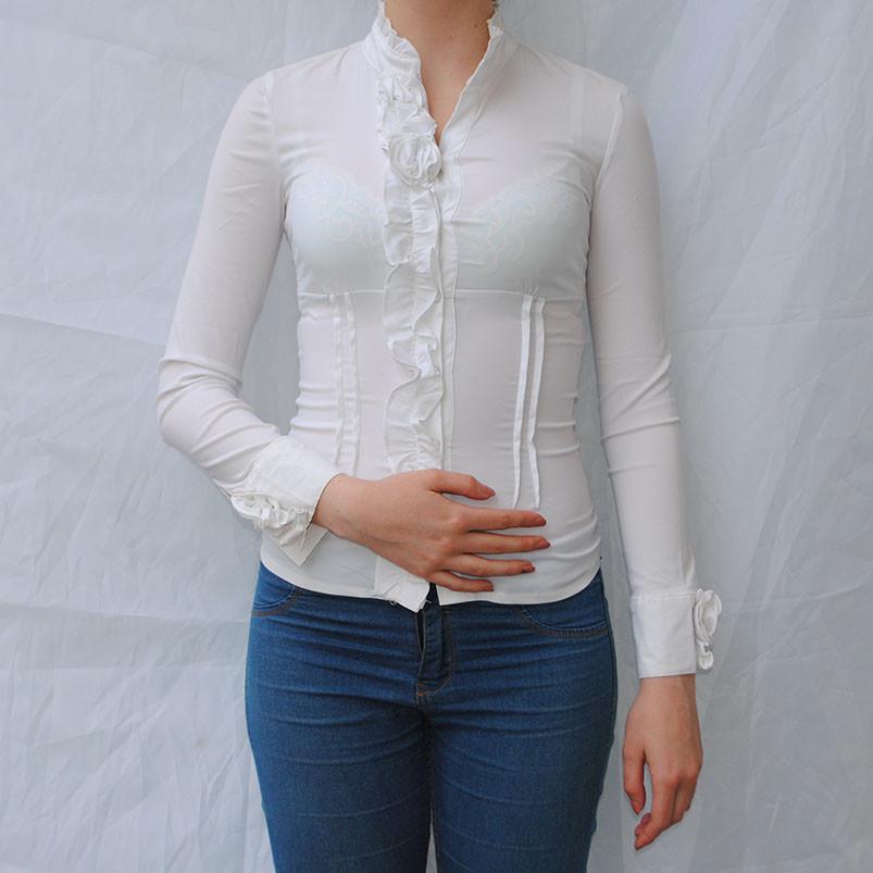 Блузки Белые Длинные