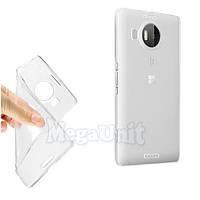 Прозрачный силиконовый чехол для Microsoft (Nokia) Lumia 950 XL