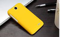 Пластиковый чехол для HTC Desire 310 жёлтый