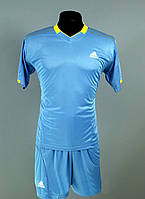 Футбольная форма игровая Adidas Blue (Адидас голубая)