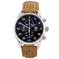 Механические мужские часы TAG Heuer - In space 1962 цвет корпуса серебристый, замшевый браслет браслет