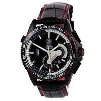 Механические часы TAG Heuer - Carrera Caliber 36 цвет корпуса черный, кожаный ремешок