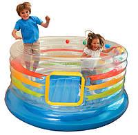 Детский надувной игровой центр - батут  Intex 48264 JUMP-O-LENE (182*86 см)