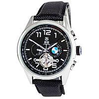 Мужские механические часы TAG Heuer - Carrera GMT BMW цвет корпуса серебристый, паракордовый ремешок