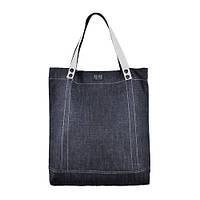 Джинсовая удобная сумка с ручками белого цвета