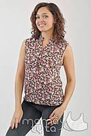 Летняя блузка для кормления Цветочки