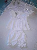Крестильный набор из 4-х предметов ( крыжма+крестильная одежда), лето