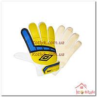 Перчатки вратарские юниорские UMBRO желтые