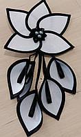 Декор для штор цветы тканевые цв-2