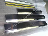 Защита порогов - накладки на пороги Chevrolet ORLANDO 2011-  (Standart)