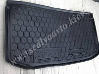 Коврик в багажник NISSAN Micra с 2013 г. (Автогум AVTO-GUMM)резина+пластик