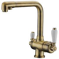 Смеситель для кухни с подключением фильтрованной воды 2 в 1 ELGHANSA Terrakotta 56A5740 Цвет -Бронза